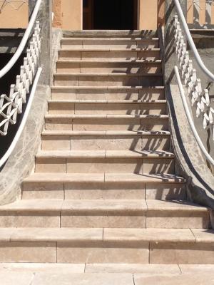Venelles Escalier En Travertin Blbcarrelage - Carrelage d'escalier